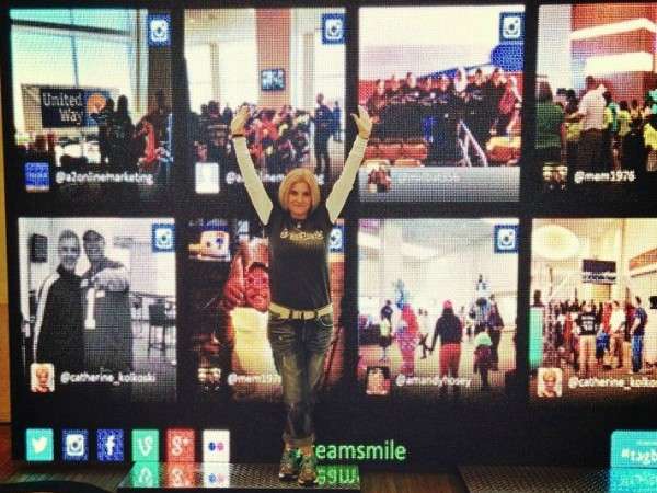 A2 Online Marketing participated at The TeamSmile event last October with TagBoard.